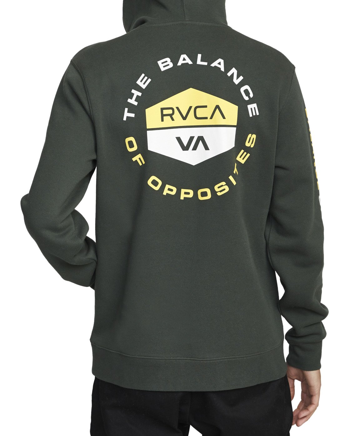 1 FOCUSED HOODIE Green AVYFT00133 RVCA