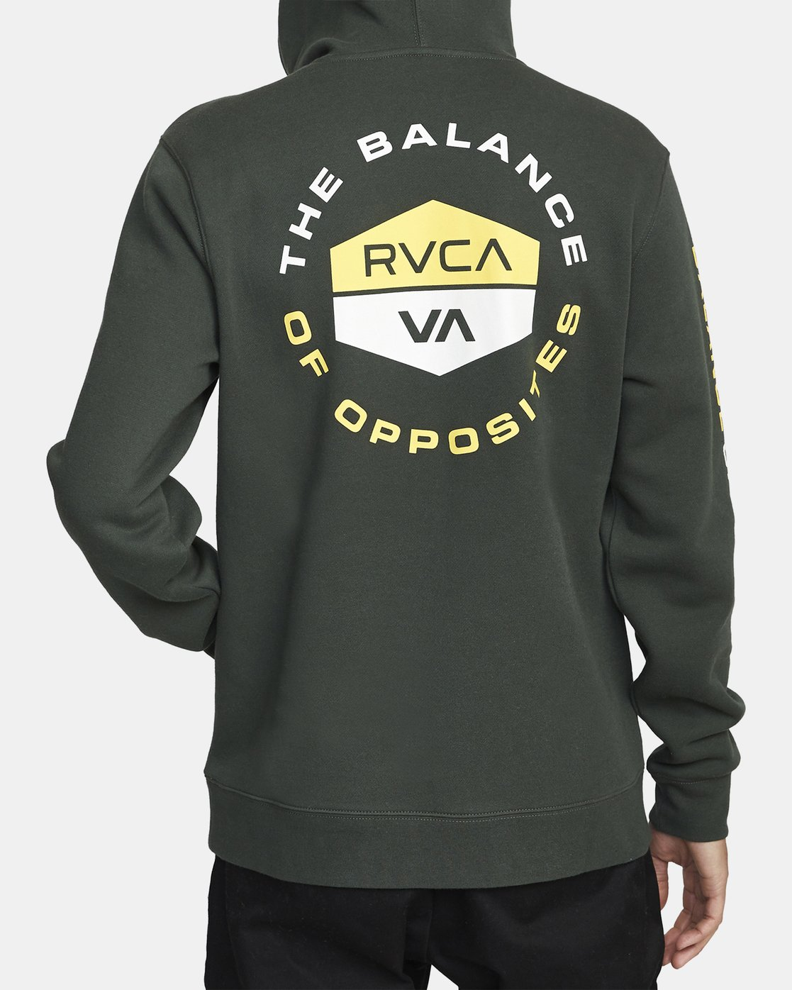 2 FOCUSED HOODIE Green AVYFT00133 RVCA