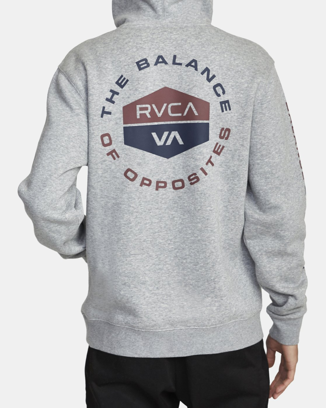 2 FOCUSED HOODIE Grey AVYFT00133 RVCA
