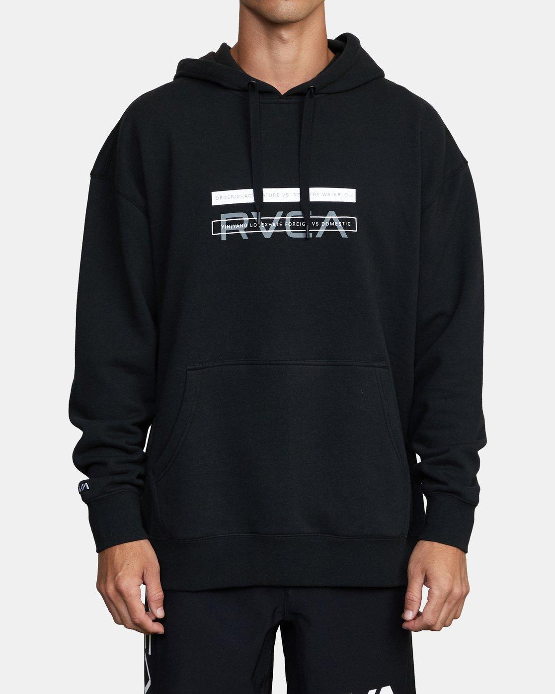 0 VA BAR PULLOVER HOODIE Black AVYFT00154 RVCA