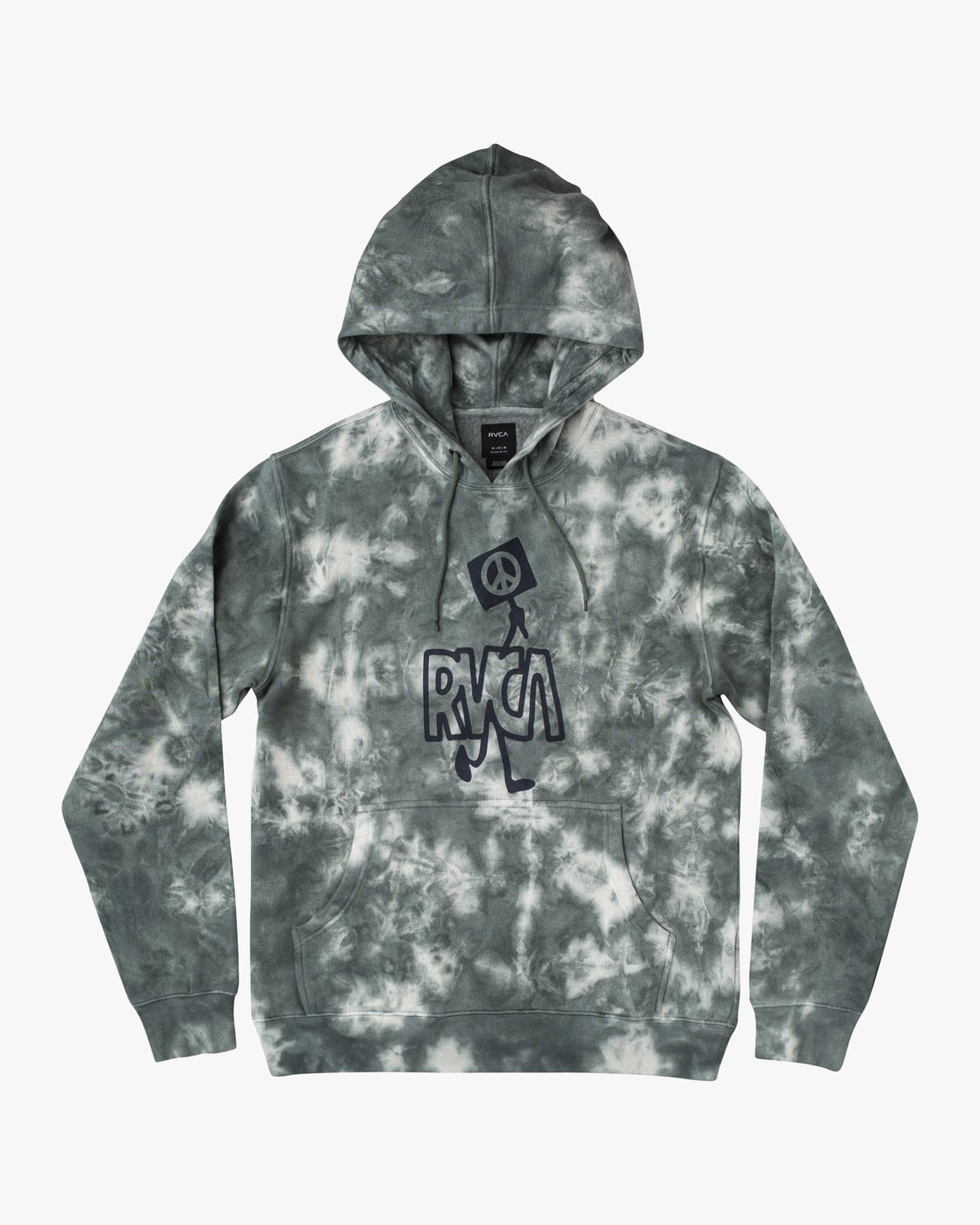 0 NEARBY TIE DYE PULLOVER HOODIE Green AVYFT00164 RVCA