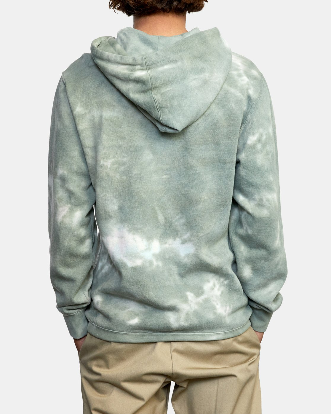 2 NEARBY TIE DYE PULLOVER HOODIE Green AVYFT00164 RVCA