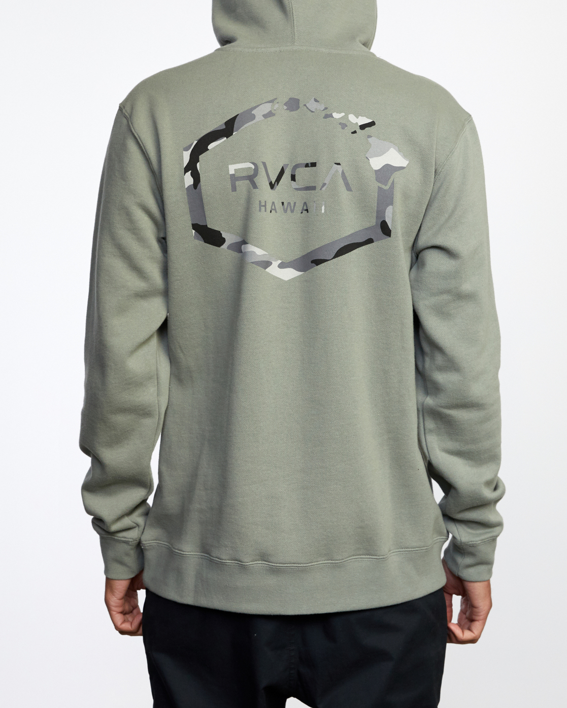 3 ISLAND HEX PULLOVER HOODIE Green AVYFT00175 RVCA