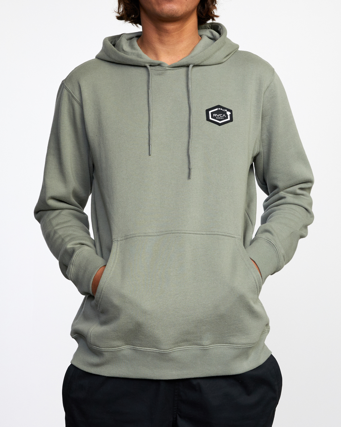 2 ISLAND HEX PULLOVER HOODIE Green AVYFT00175 RVCA