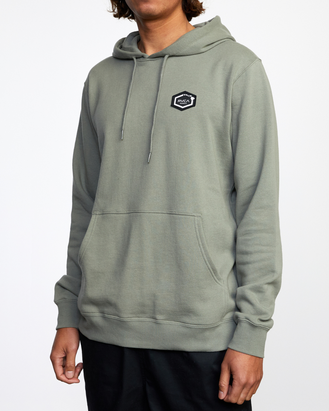 5 ISLAND HEX PULLOVER HOODIE Green AVYFT00175 RVCA