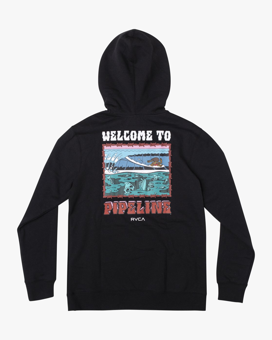 0 Welcome to Pipe PULLOVER HOODIE Black AVYFT00177 RVCA