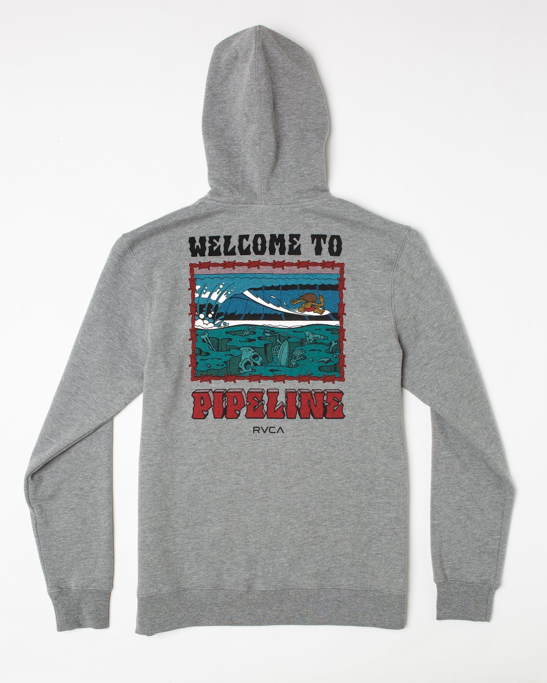 1 Welcome to Pipe PULLOVER HOODIE Red AVYFT00177 RVCA