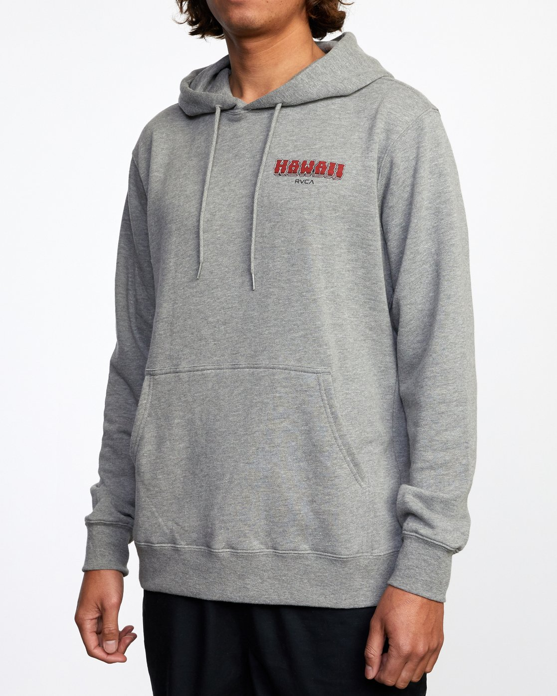3 Welcome to Pipe PULLOVER HOODIE Red AVYFT00177 RVCA