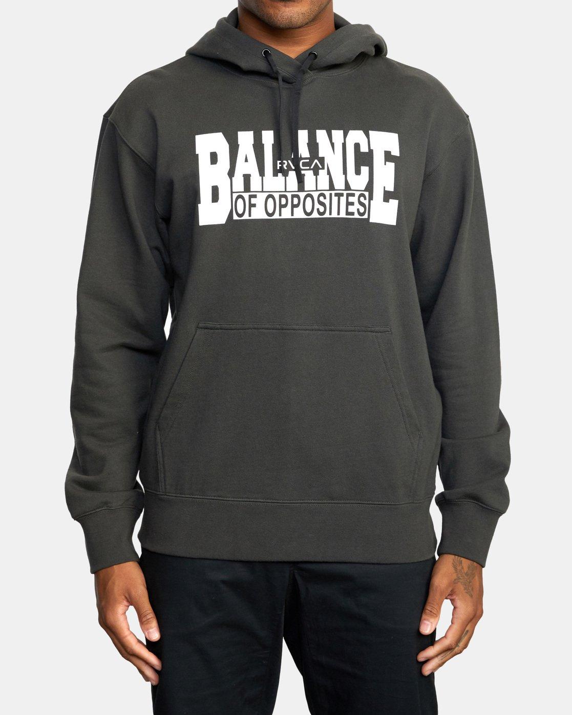 0 Balance Block Hoodie Black AVYFT00181 RVCA