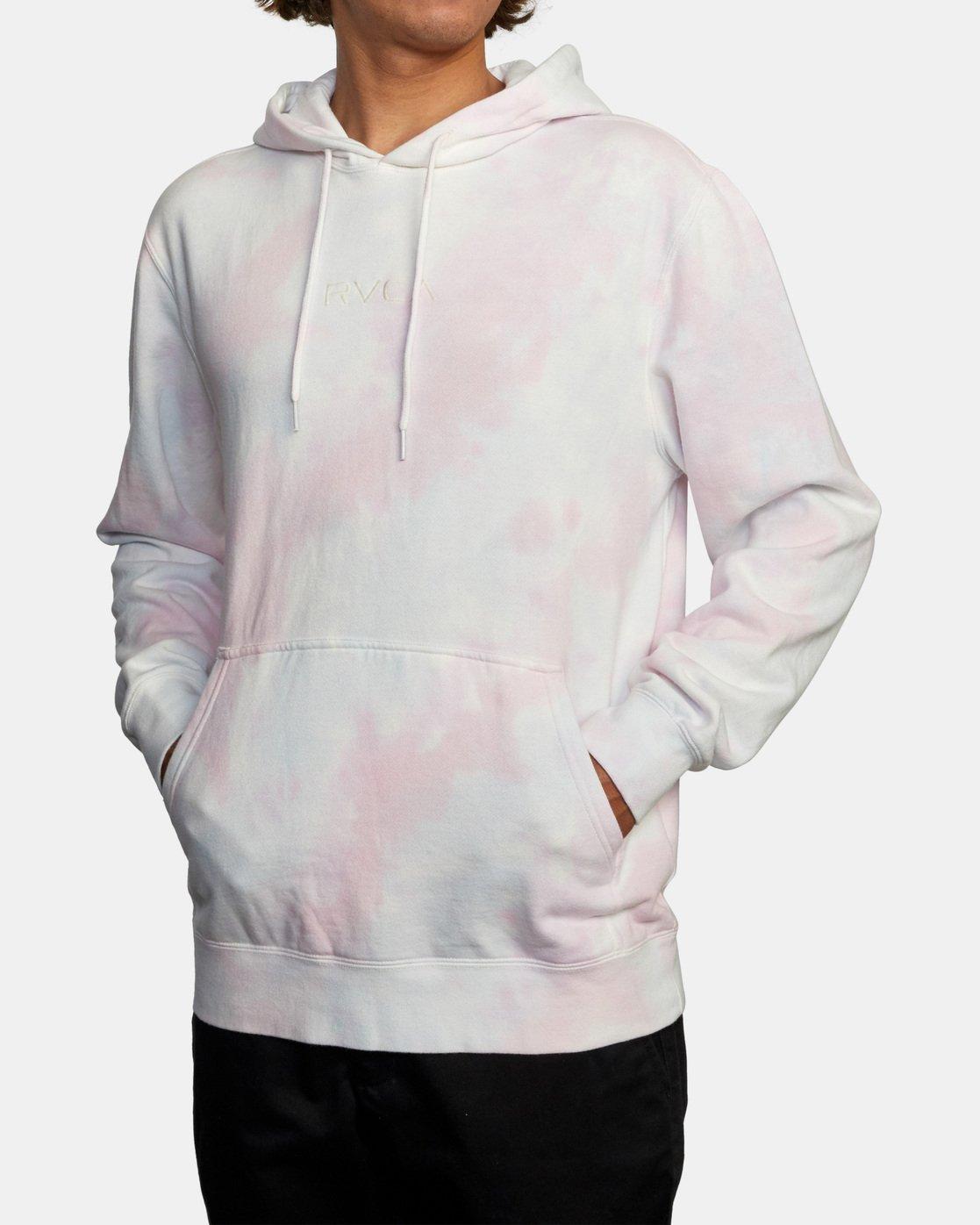 3 Tonally Tie-Dye Hoodie III White AVYFT00182 RVCA