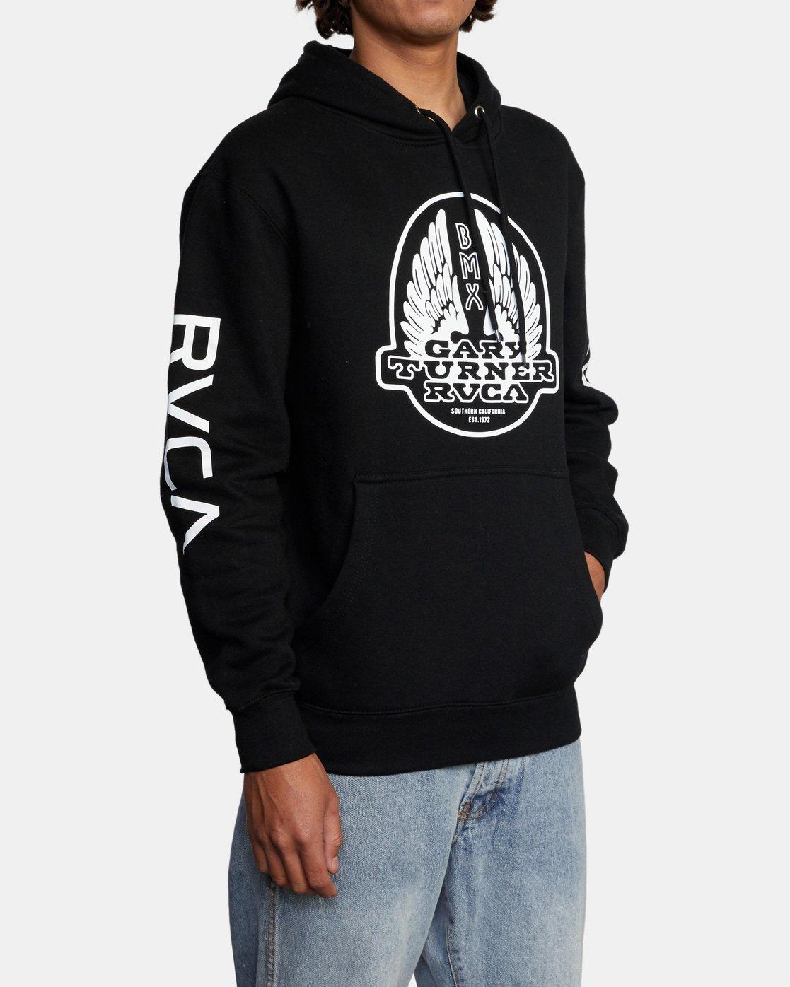 5 Gary Turner Sweatshirt Black AVYFT00229 RVCA