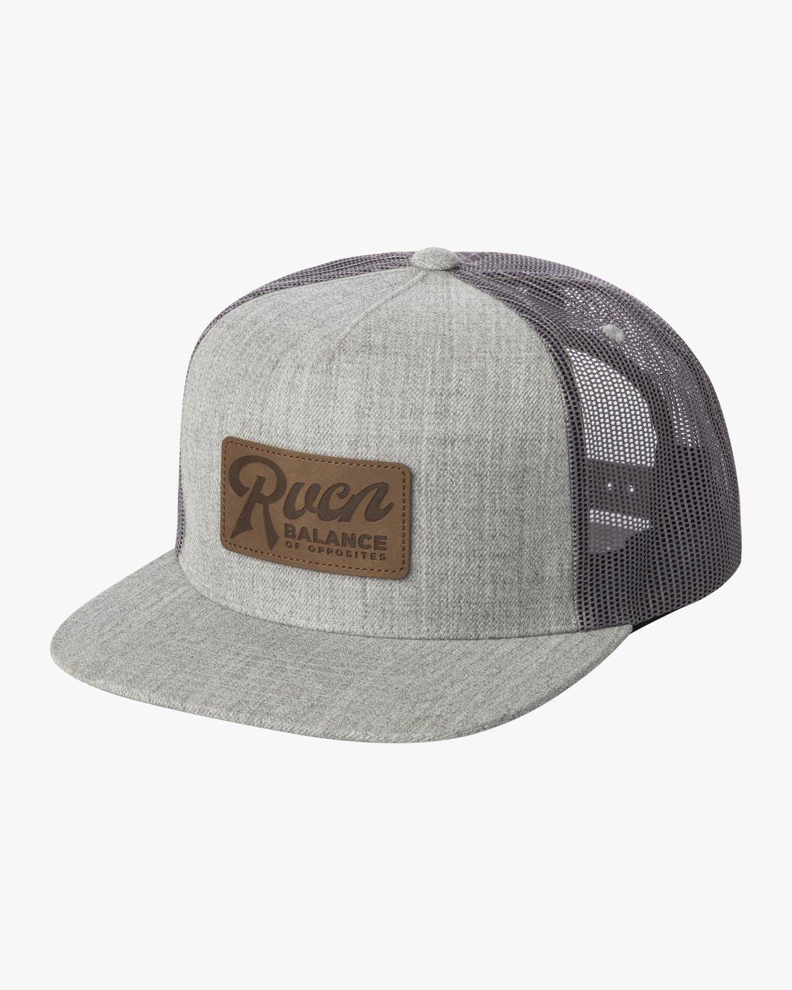 0 STROKES TRUCKER HAT Grey AVYHA00129 RVCA