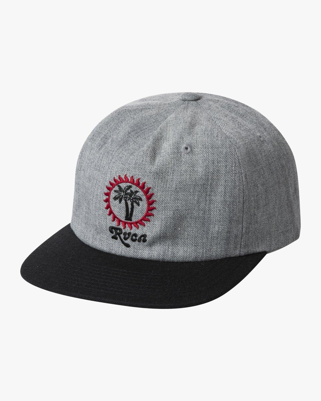0 BACKLIT SNAPBACK HAT Grey AVYHA00139 RVCA