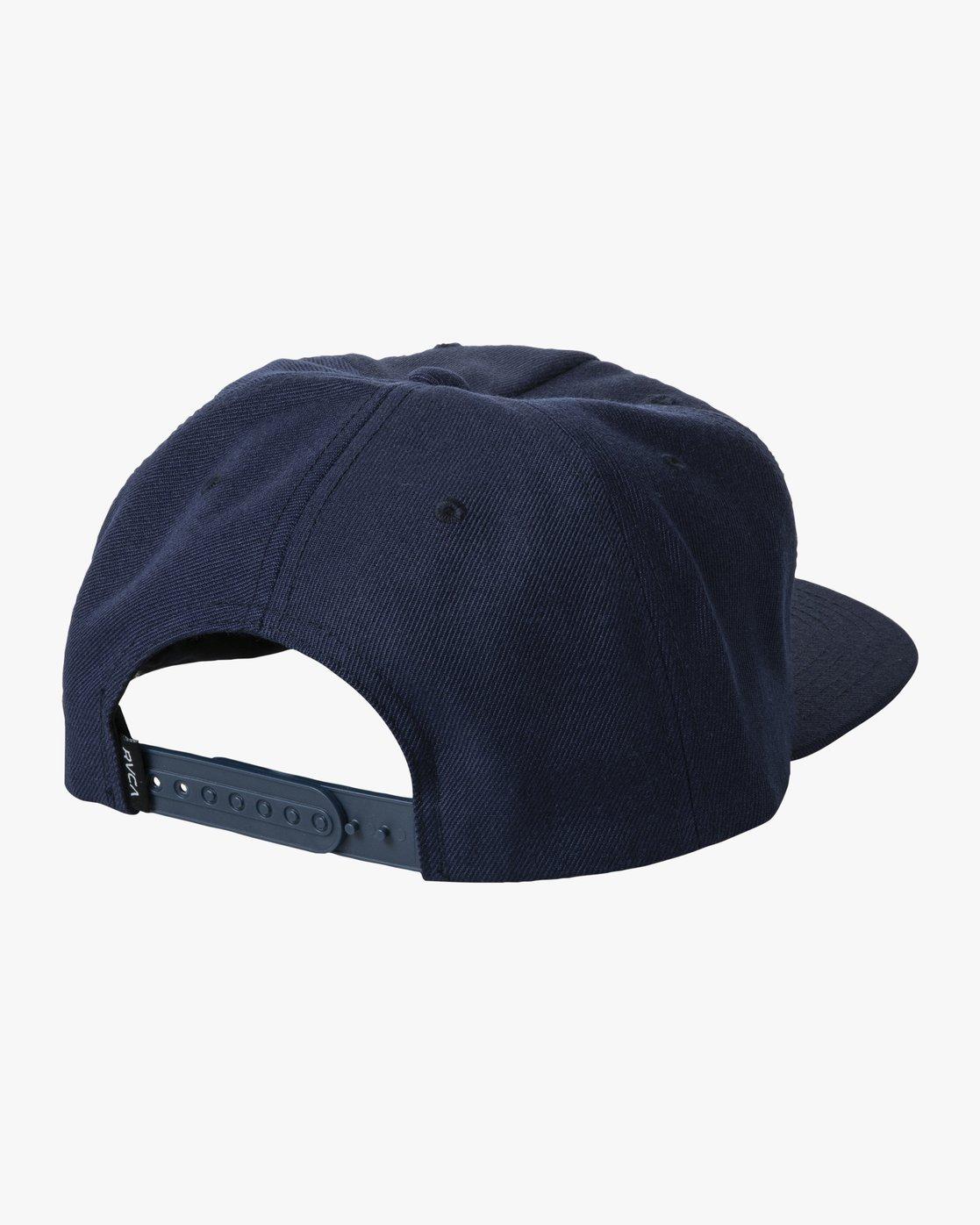 1 BACKLIT SNAPBACK HAT Blue AVYHA00139 RVCA