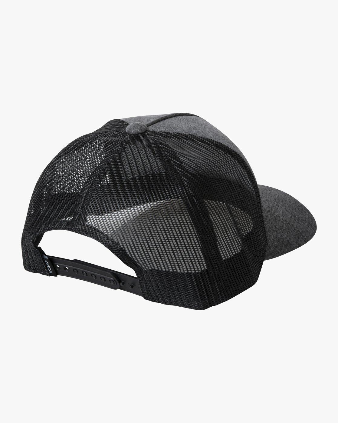 1 BUCK TRUCKER HAT Grey AVYHA00142 RVCA