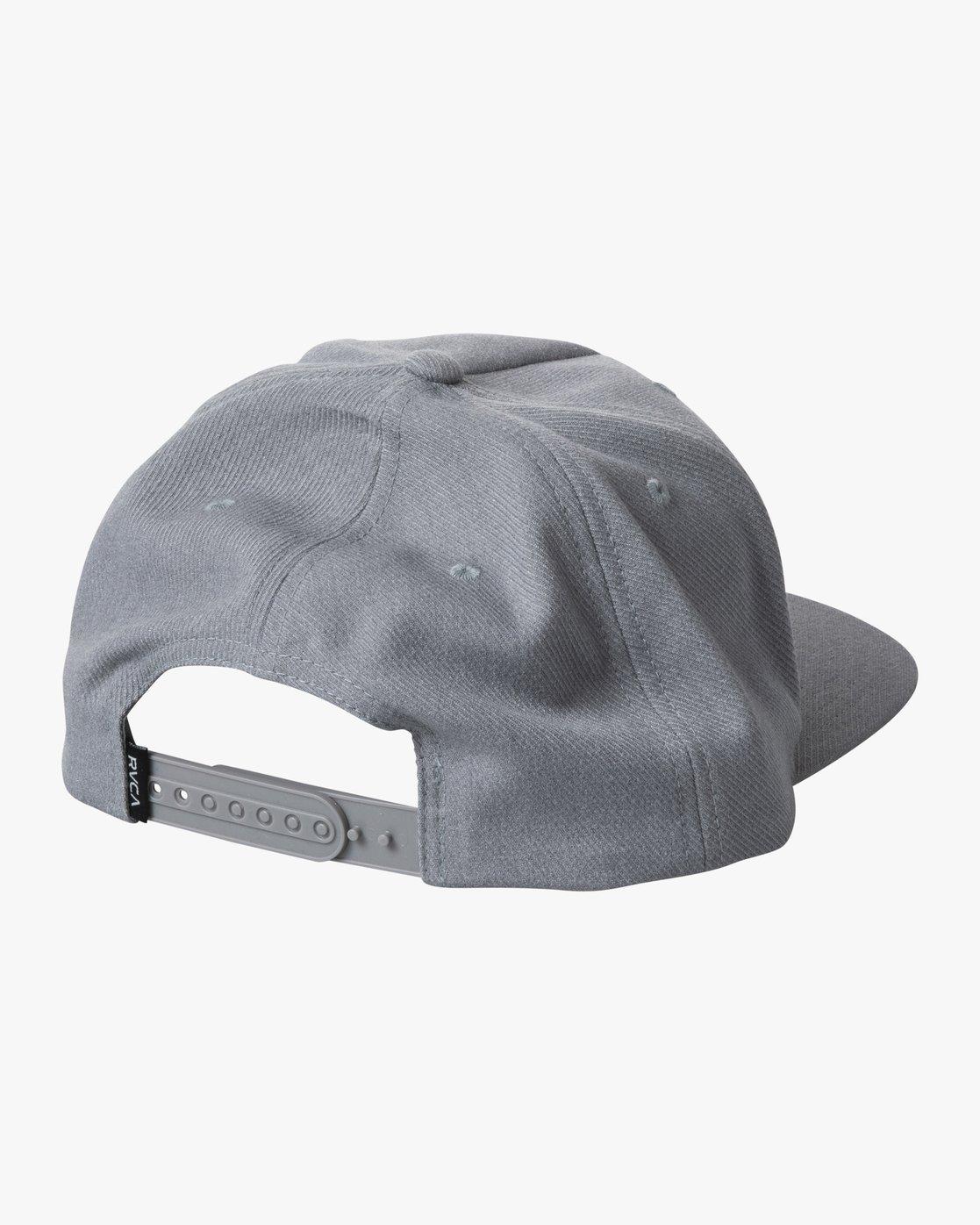 1 STRIKE SNAPBACK HAT Grey AVYHA00155 RVCA