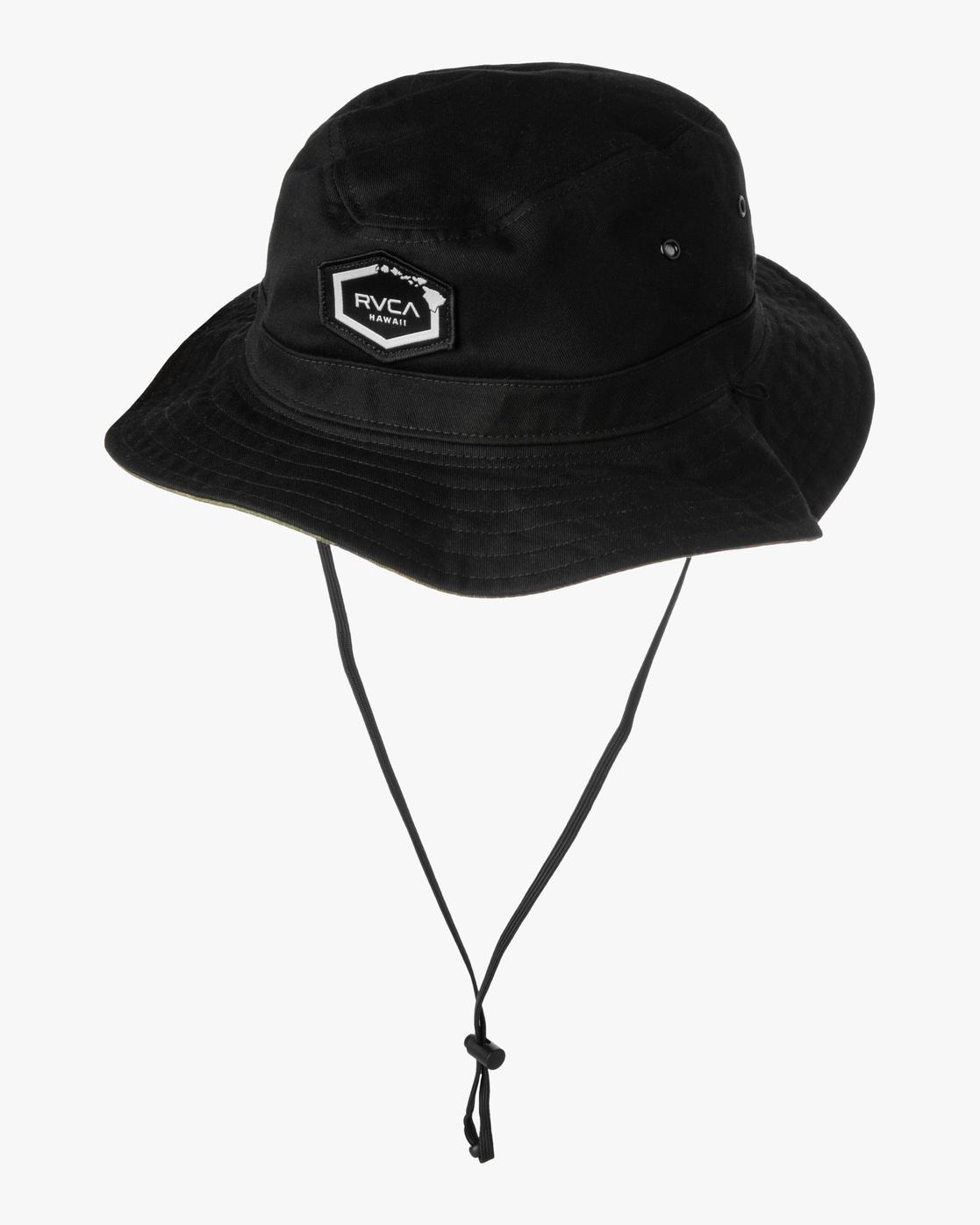 0 ISLAND HEX REVERSE BOONIE HAT Black AVYHA00180 RVCA