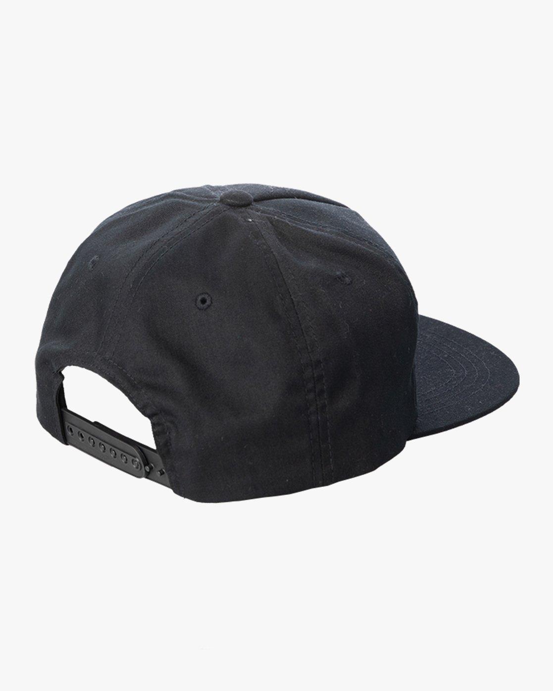 1 RVCA T&C Snapback Hat Black AVYHA00276 RVCA