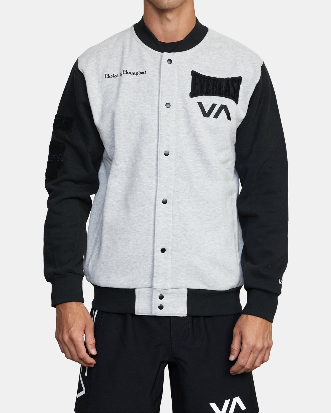 2 EVERLAST STADIUM FLEECE JACKET Grey AVYJK00119 RVCA