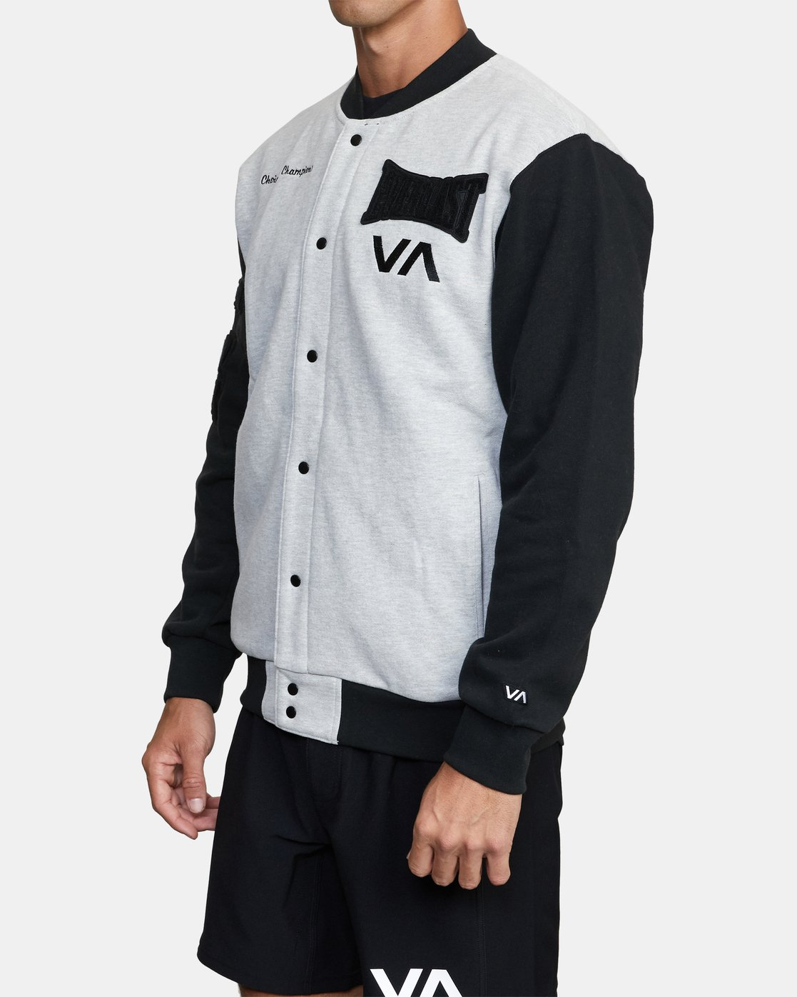 4 EVERLAST STADIUM FLEECE JACKET Grey AVYJK00119 RVCA