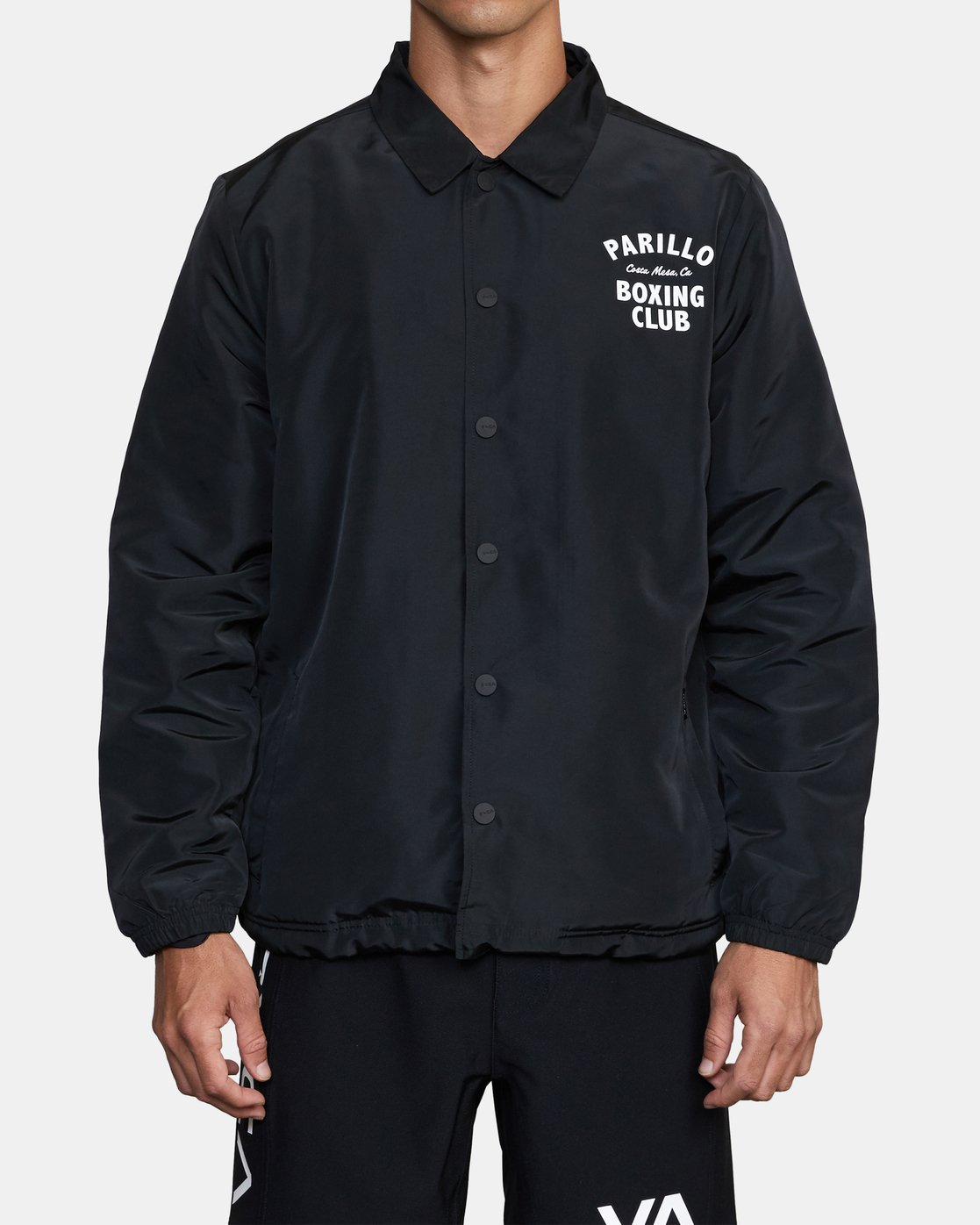1 Parillo Boxing Coaches Jacket Black AVYJK00129 RVCA