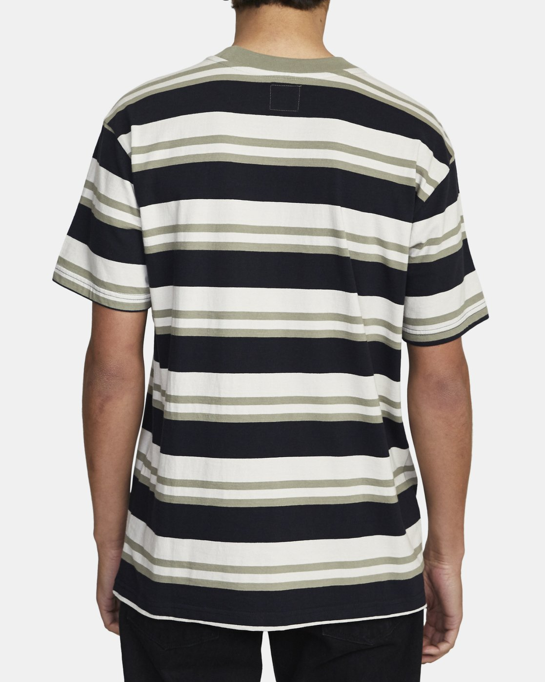 3 CURTIS STRIPE II SHORT SLEEVE TEE Black AVYKT00101 RVCA