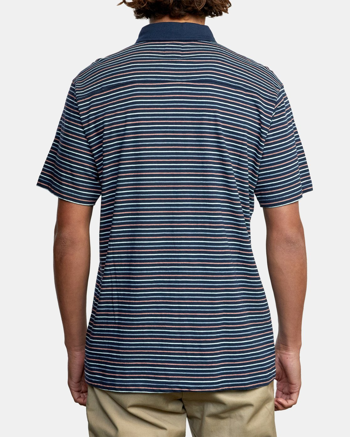 2 CASSADY STRIPE SHORT SLEEVE POLO SHIRT Blue AVYKT00124 RVCA
