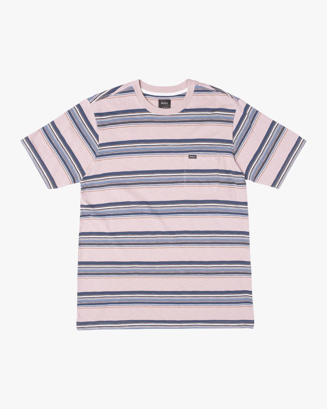 0 El Rosario Stripe Short Sleeve Tee Grey AVYKT00149 RVCA