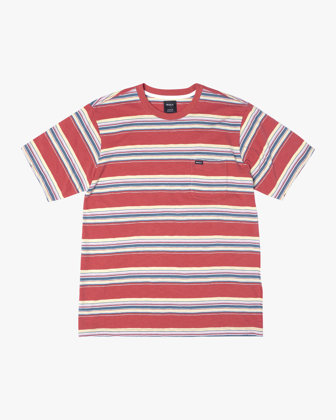 1 El Rosario Stripe Short Sleeve Tee White AVYKT00149 RVCA