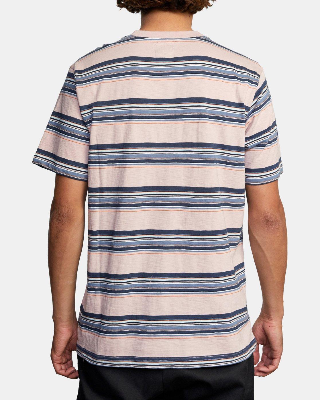2 El Rosario Stripe Short Sleeve Tee Grey AVYKT00149 RVCA