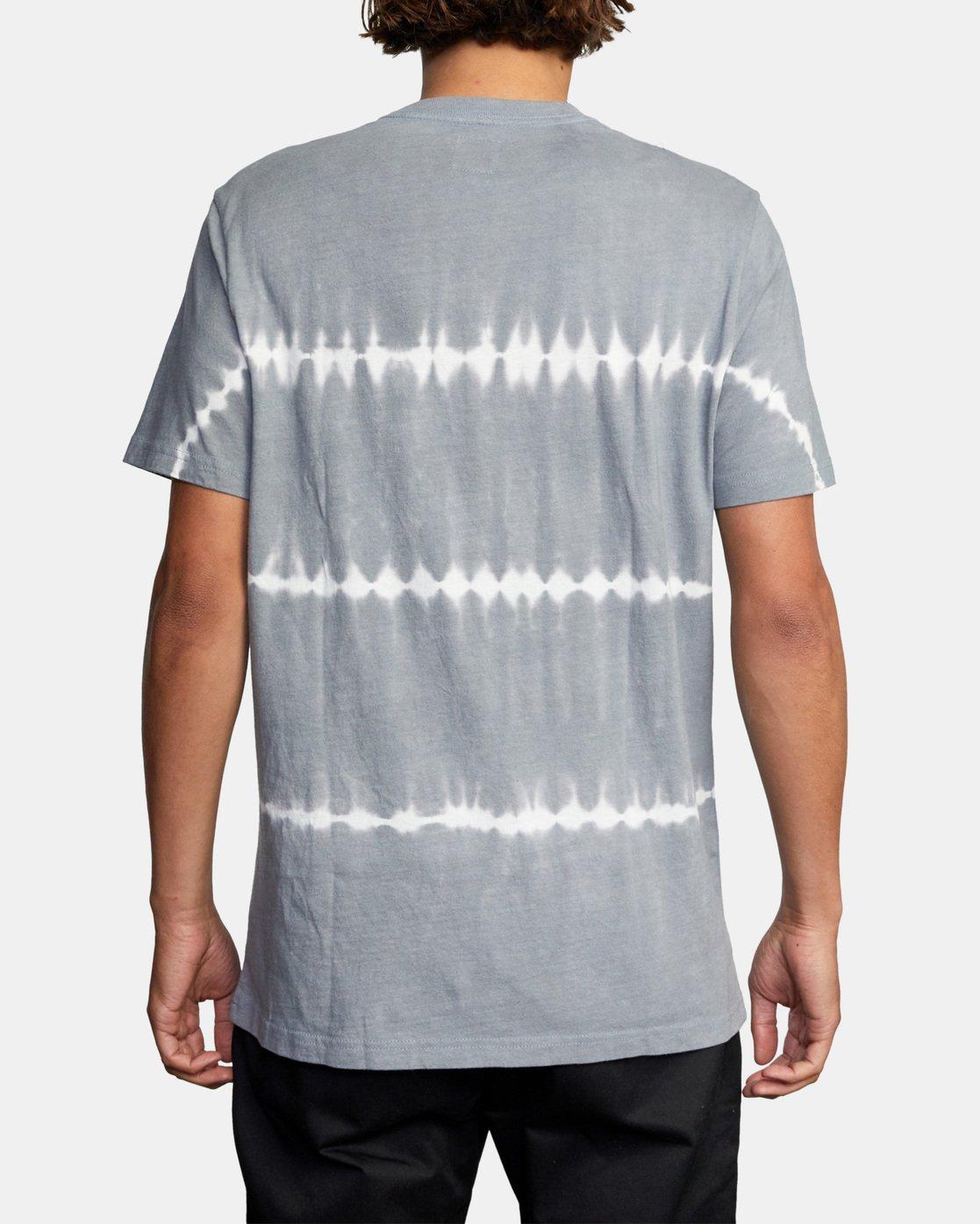 2 Manic Tie-Dye Stripe Short Sleeve Tee Grey AVYKT00153 RVCA