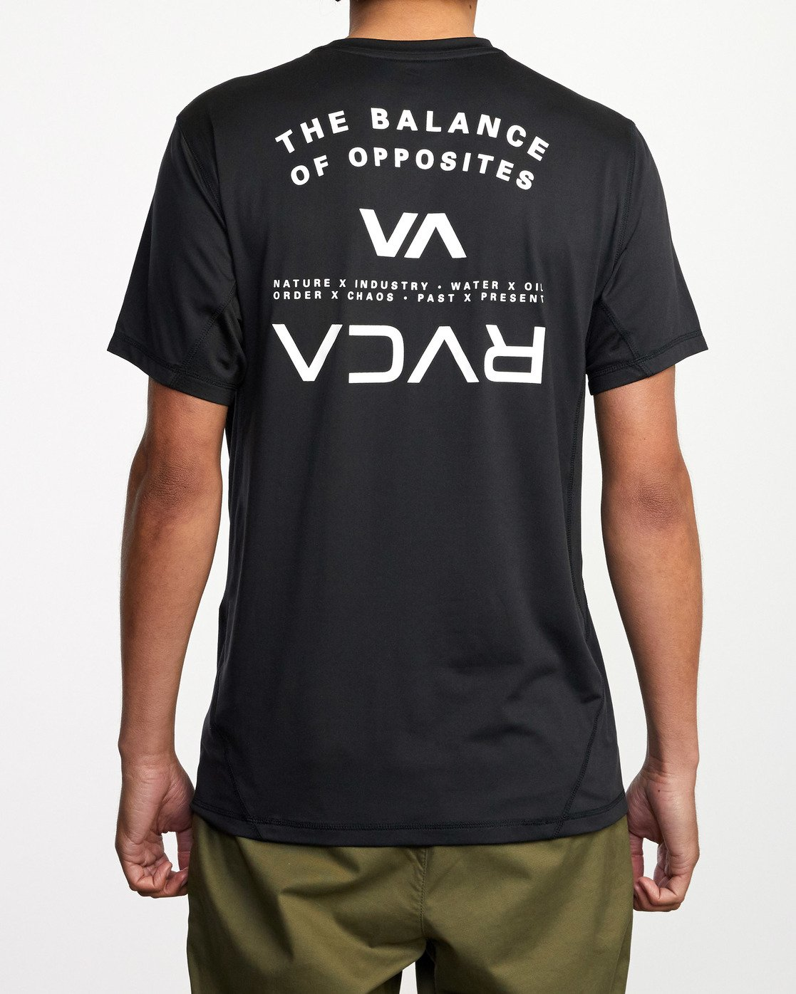 1 Balance Arc Performance Short Sleeve Tee Black AVYKT00174 RVCA