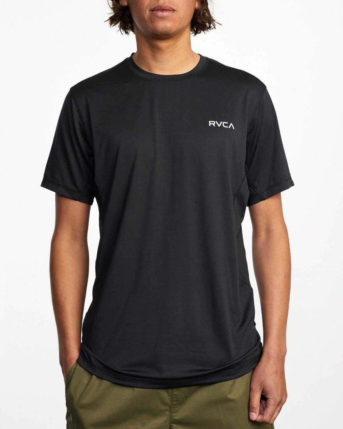 0 Balance Arc Performance Short Sleeve Tee Black AVYKT00174 RVCA