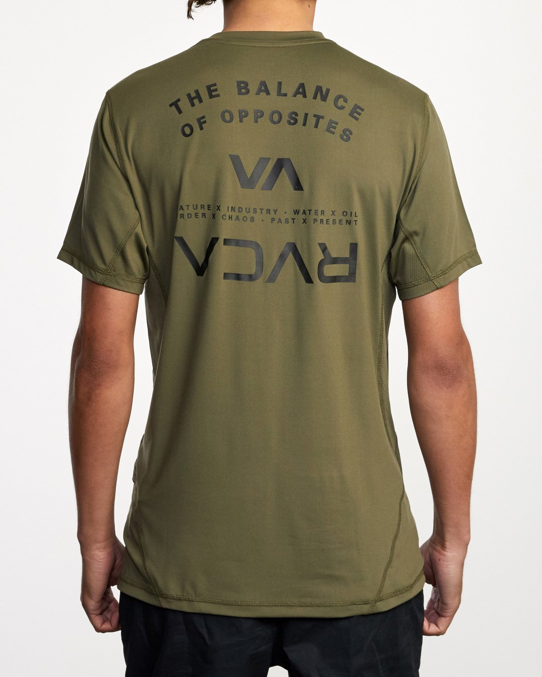 1 Balance Arc Performance Short Sleeve Tee Green AVYKT00174 RVCA