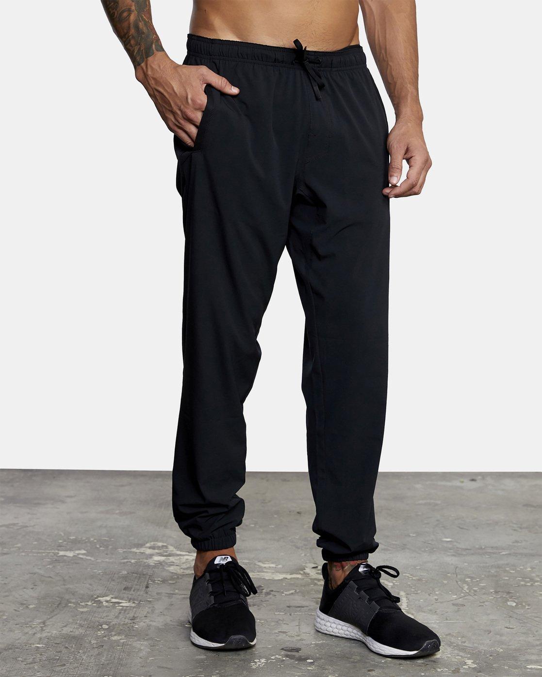 8 YOGGER STRETCH TRACK PANT Black AVYNP00109 RVCA