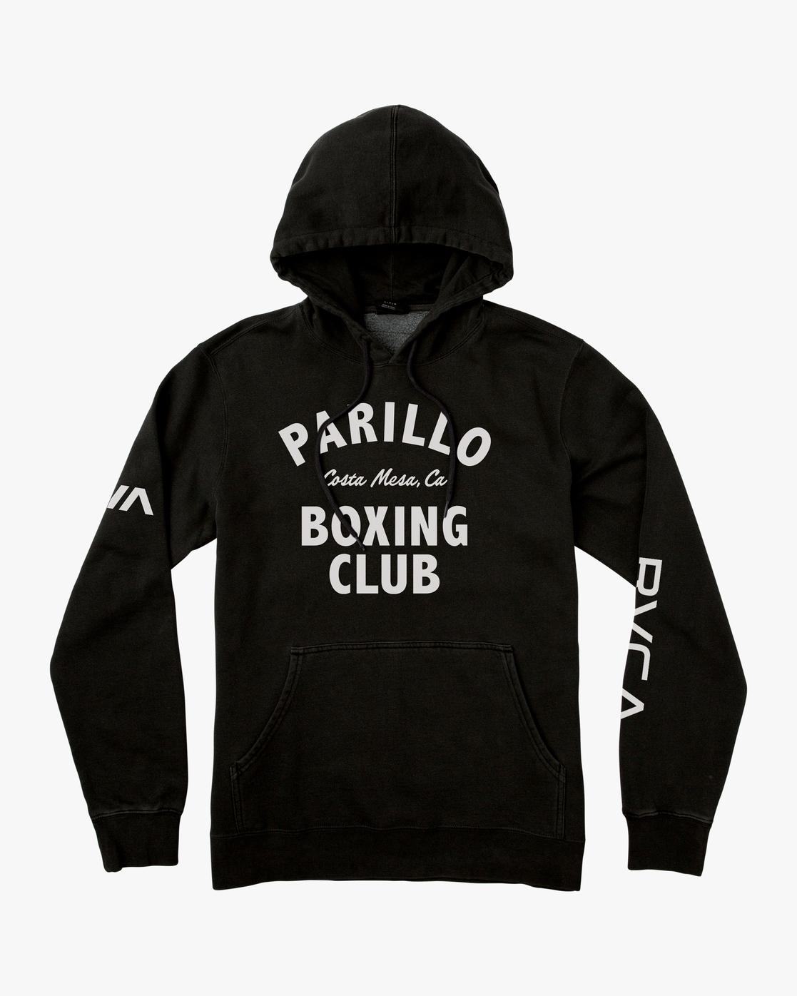 0 Parillo Boxing Club Pullover Sweatshirt Black AVYSF00105 RVCA