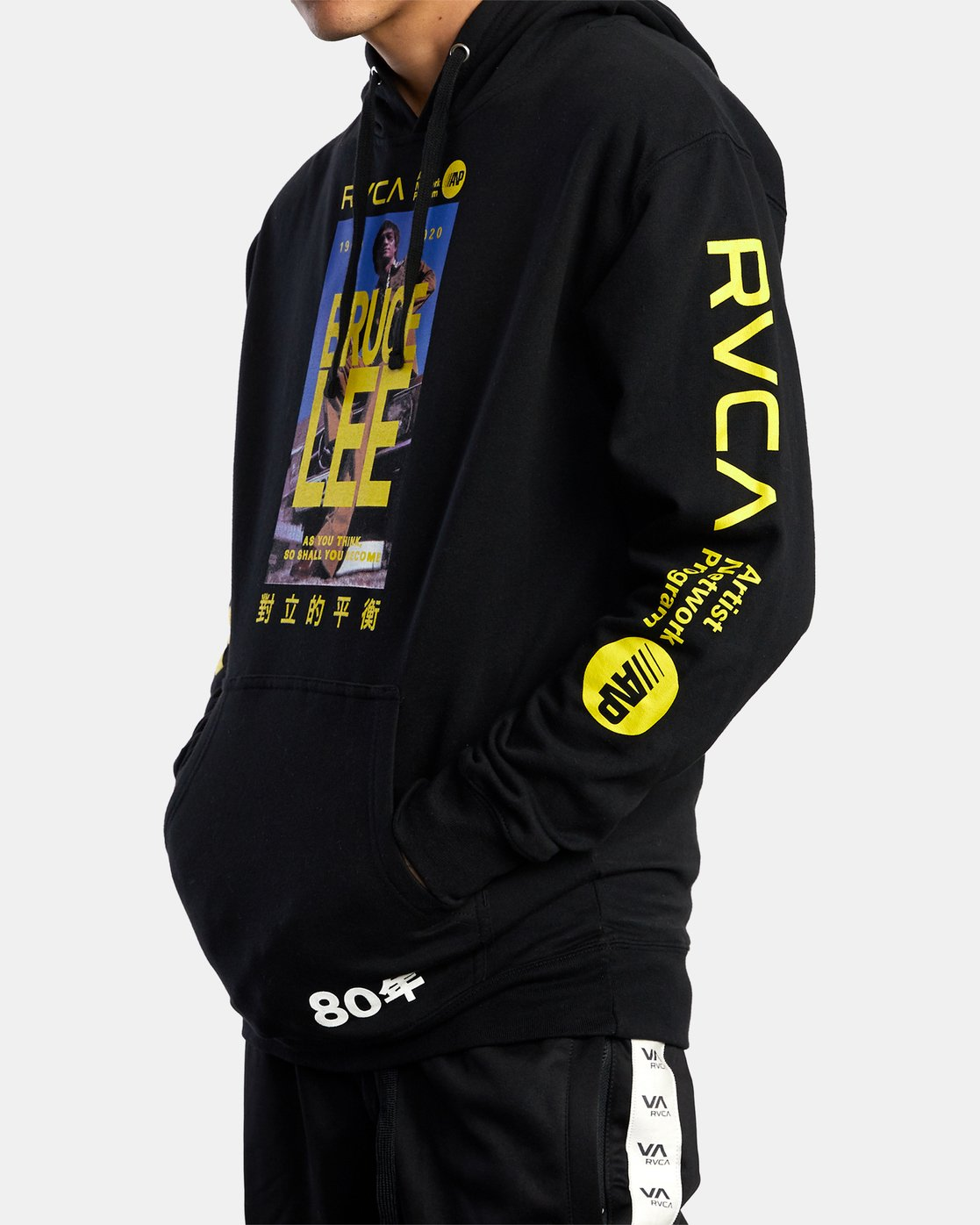 4 BRUCE LEE AS YOU THINK PULLOVER HOODIE Black AVYSF00108 RVCA