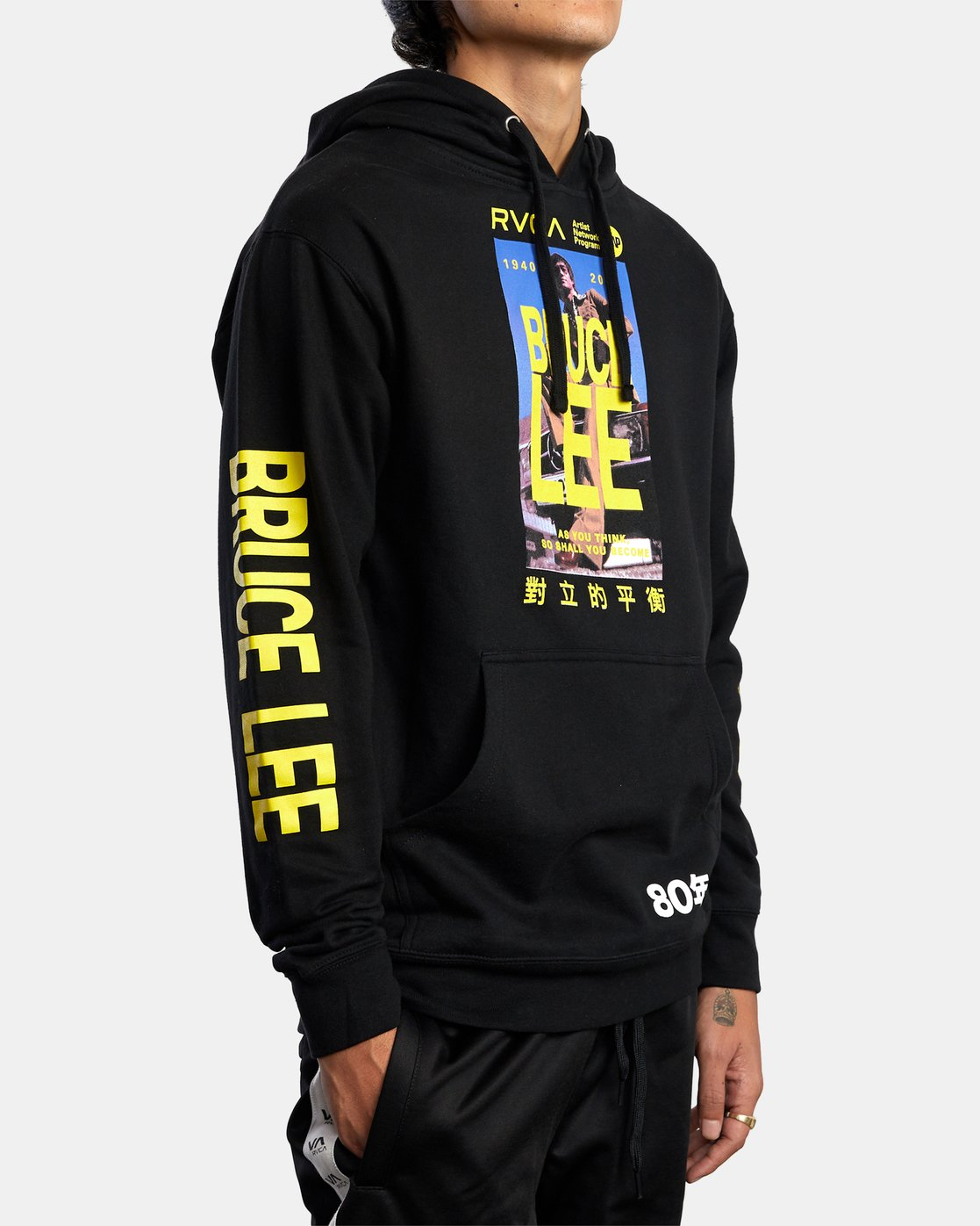5 BRUCE LEE AS YOU THINK PULLOVER HOODIE Black AVYSF00108 RVCA