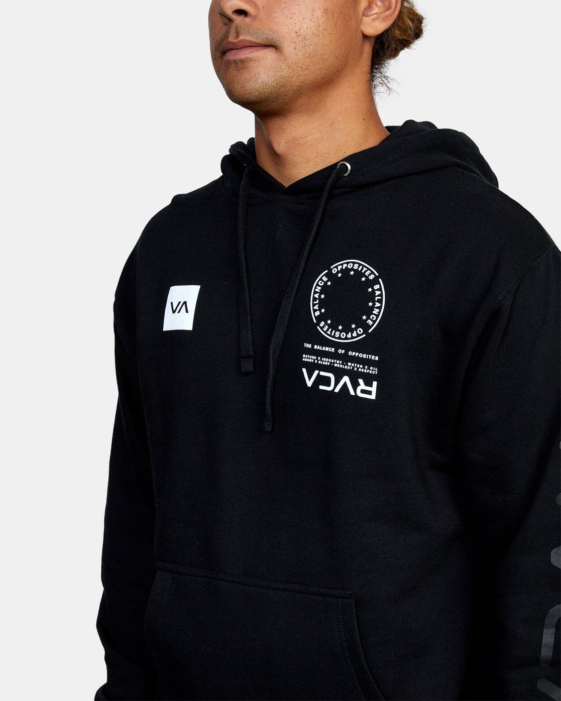 4 VA MARK Sport HOODIE Black AVYSF00124 RVCA