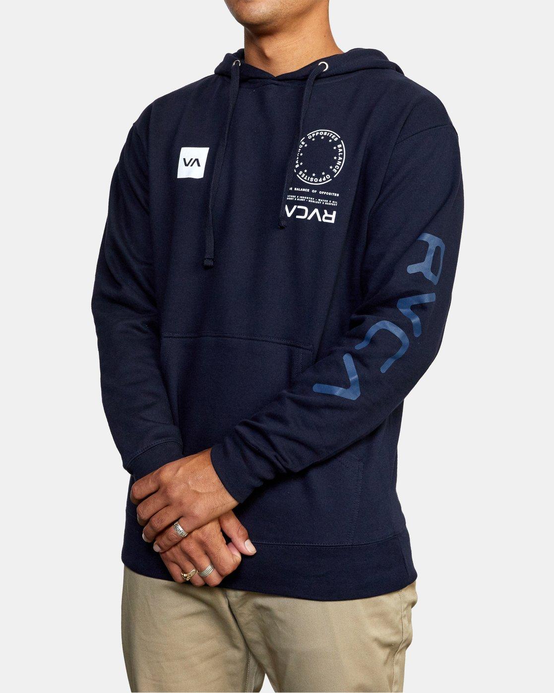 4 VA MARK Sport HOODIE Blue AVYSF00124 RVCA