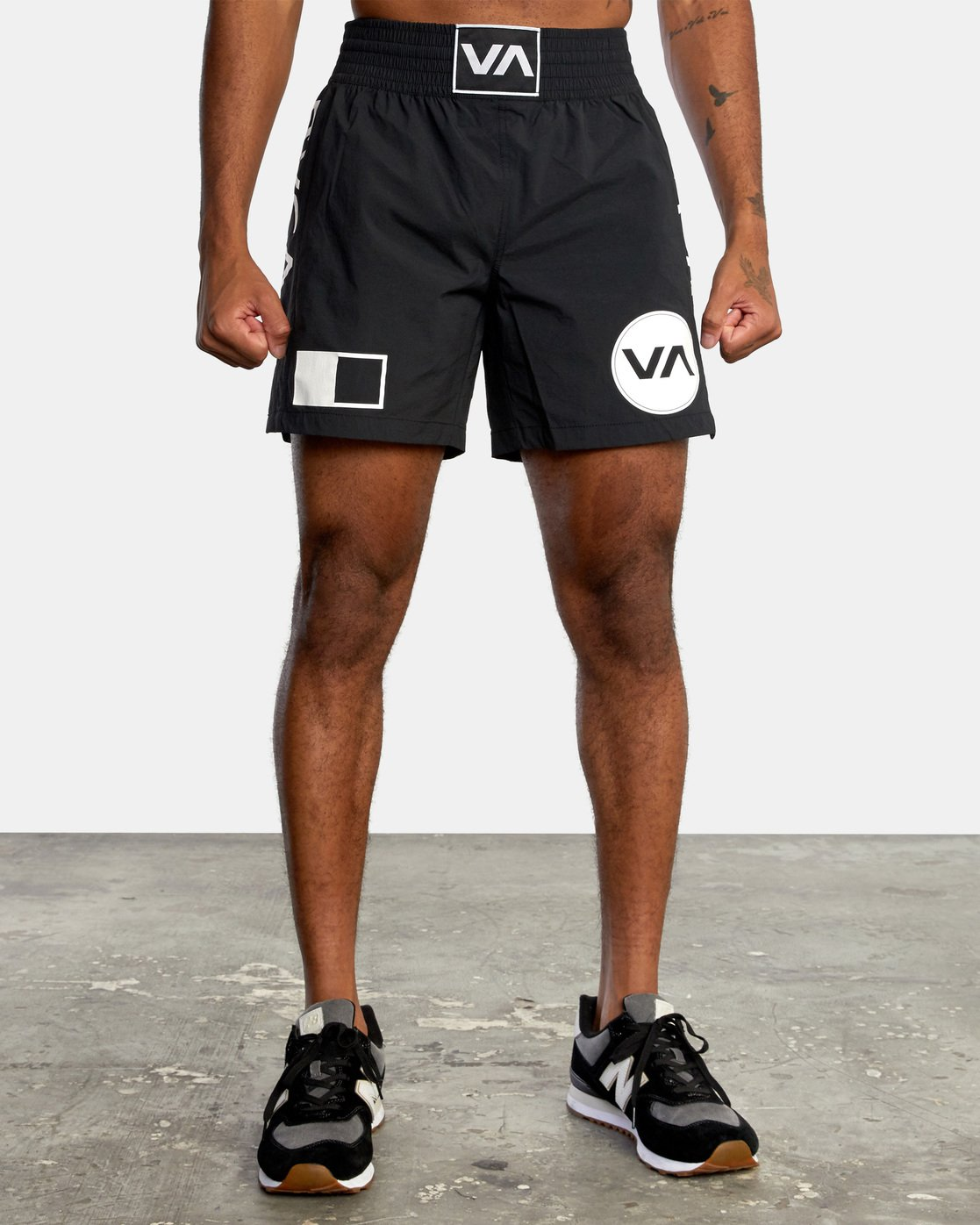 "1 Thai Training Short 18"" Black AVYWS00125 RVCA"
