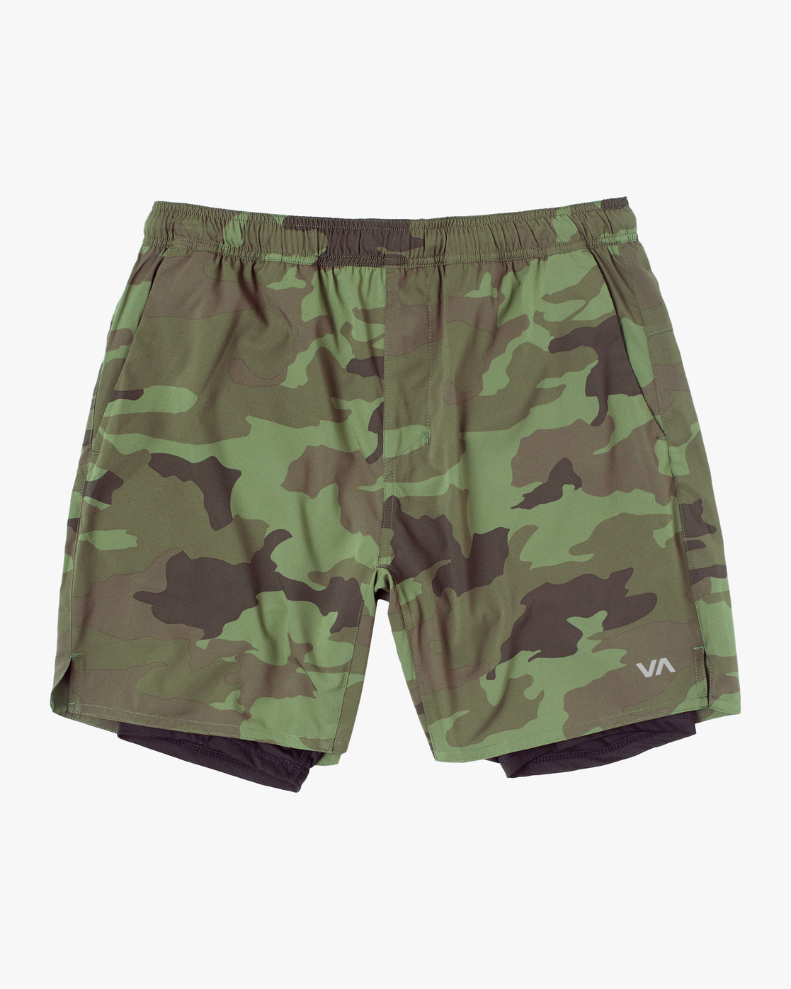 "0 YOGGER TRAIN LINED ATHLETIC SHORTS 18"" Green AVYWS00127 RVCA"