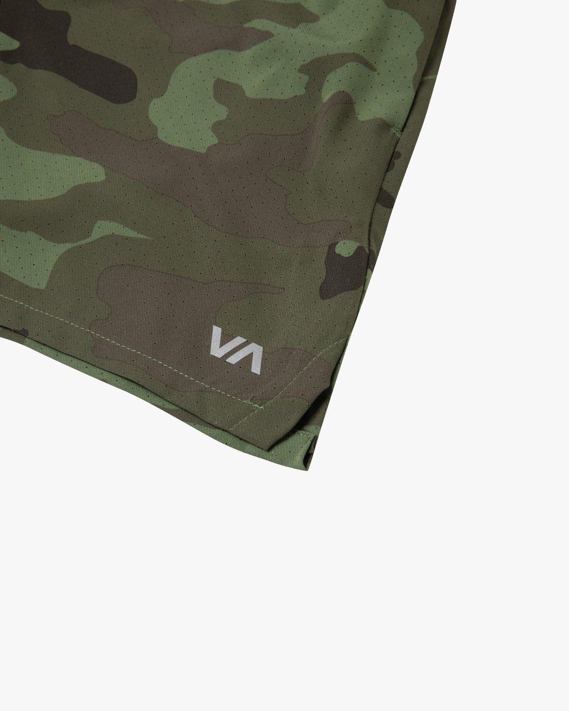 """10 YOGGER JOGGER 17"""" LINED SPORT SHORT Green AVYWS00139 RVCA"""