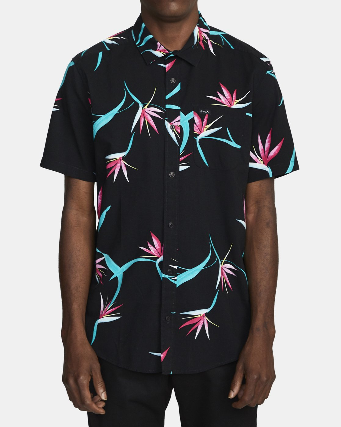 1 DREAM LAGOON SHORT SLEEVE SHIRT Black AVYWT00106 RVCA