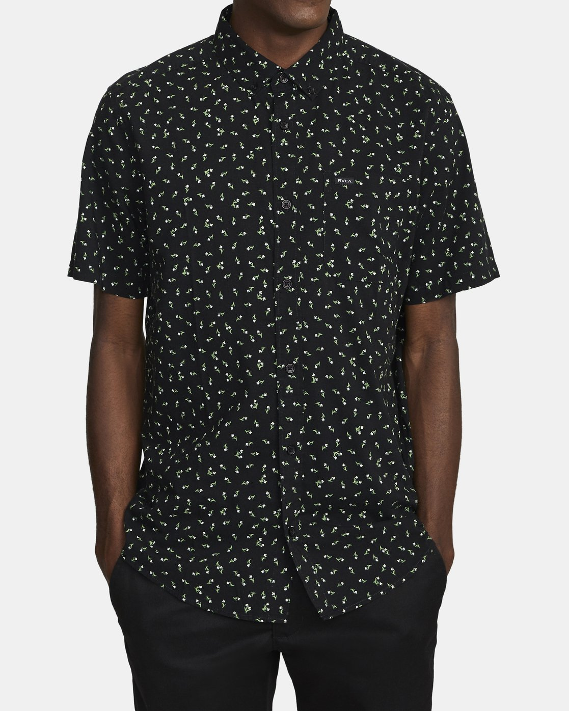 0 SCATTERED SHORT SLEEVE SHIRT Black AVYWT00110 RVCA