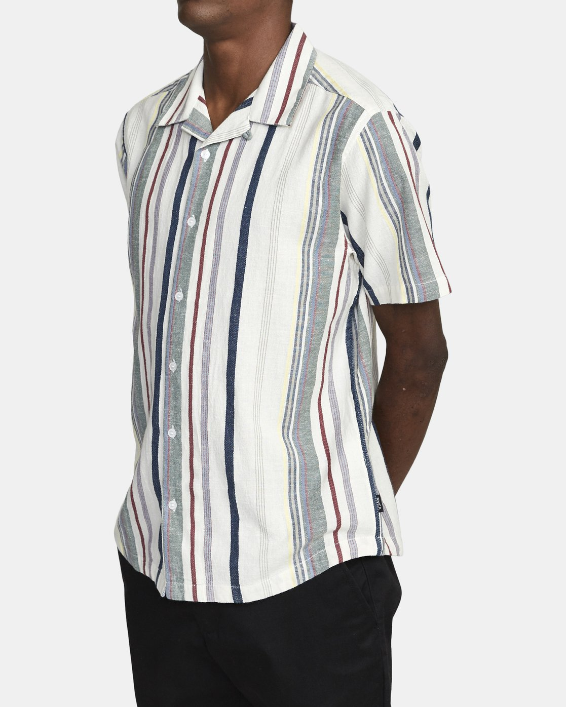 3 REPITITION SHORT SLEEVE SHIRT Silver AVYWT00130 RVCA