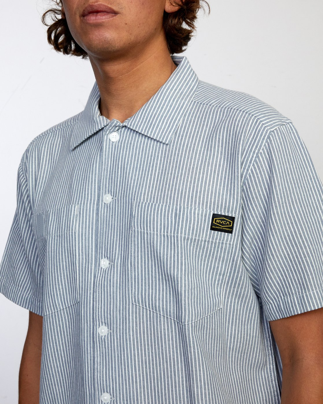 3 DAY SHIFT STRIPE SHORT SLEEVE SHIRT  AVYWT00146 RVCA