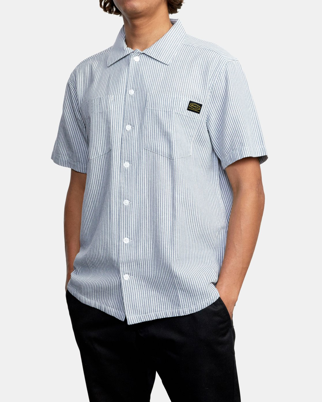 4 DAY SHIFT STRIPE SHORT SLEEVE SHIRT  AVYWT00146 RVCA