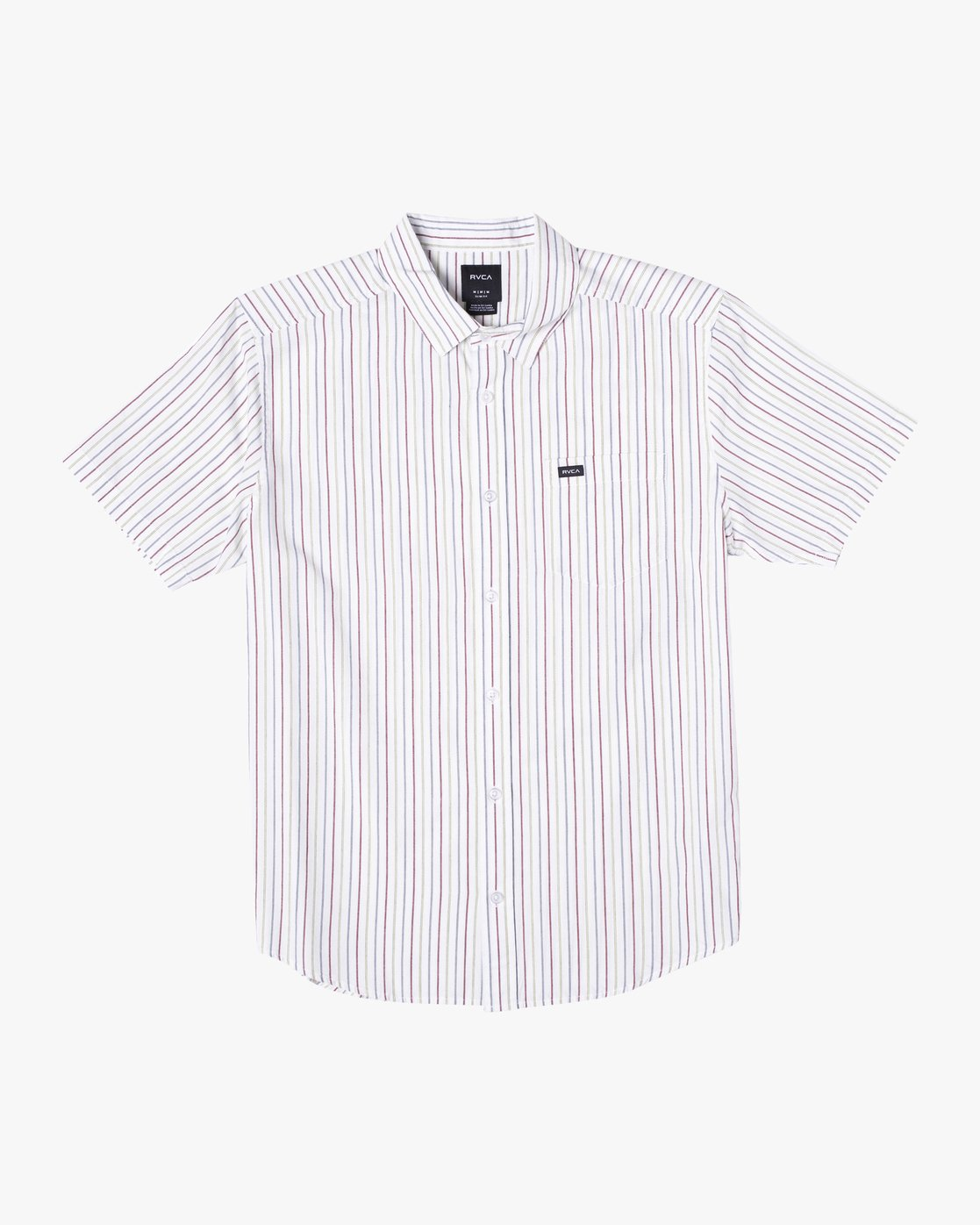 0 CASSIDY STRIPE SHORT SLEEVE SHIRT White AVYWT00149 RVCA