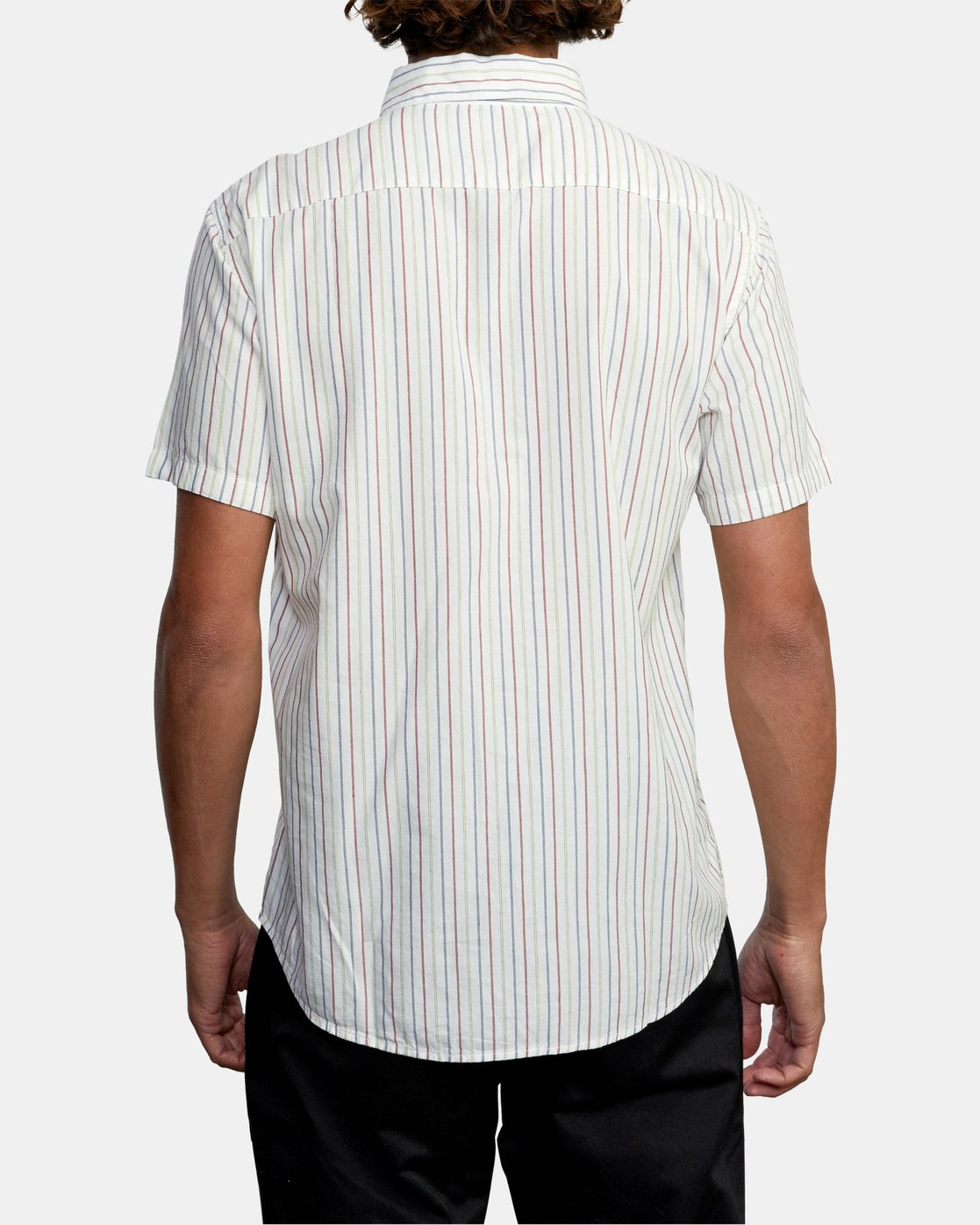 2 CASSIDY STRIPE SHORT SLEEVE SHIRT White AVYWT00149 RVCA